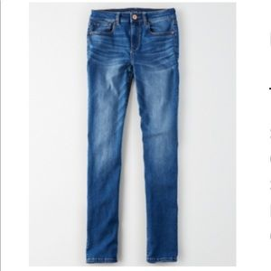American Eagle high waisted skinny jeans.